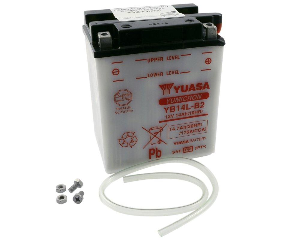 YUASA 291-077 YUASA Batterie YB 14L-B2 ohne S/äurepack