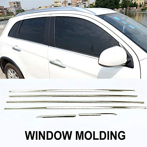 Exterior Parts Ytn 6 Pcs Trim Fit For Mitsubishi Outlander Sport Asx 2010-2017 Chrome Door Window Line Sill Trim Cover Styling Sticker (Best Sander For Window Sills)