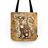 Society6 Steampunk Cat Vintage Style Tote Bag 13'' x 13''