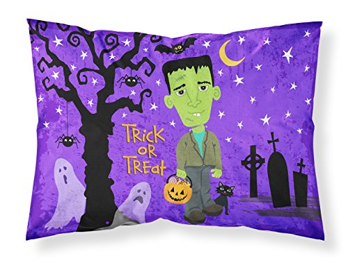 Caroline's Treasures VHA3021PILLOWCASE Halloween Frankie Frankenstein Fabric Standard Pillowcase, Standard, Multicolor