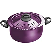 Bialetti 7256 Trends Collection 5 Quart Pasta Pot, Purple