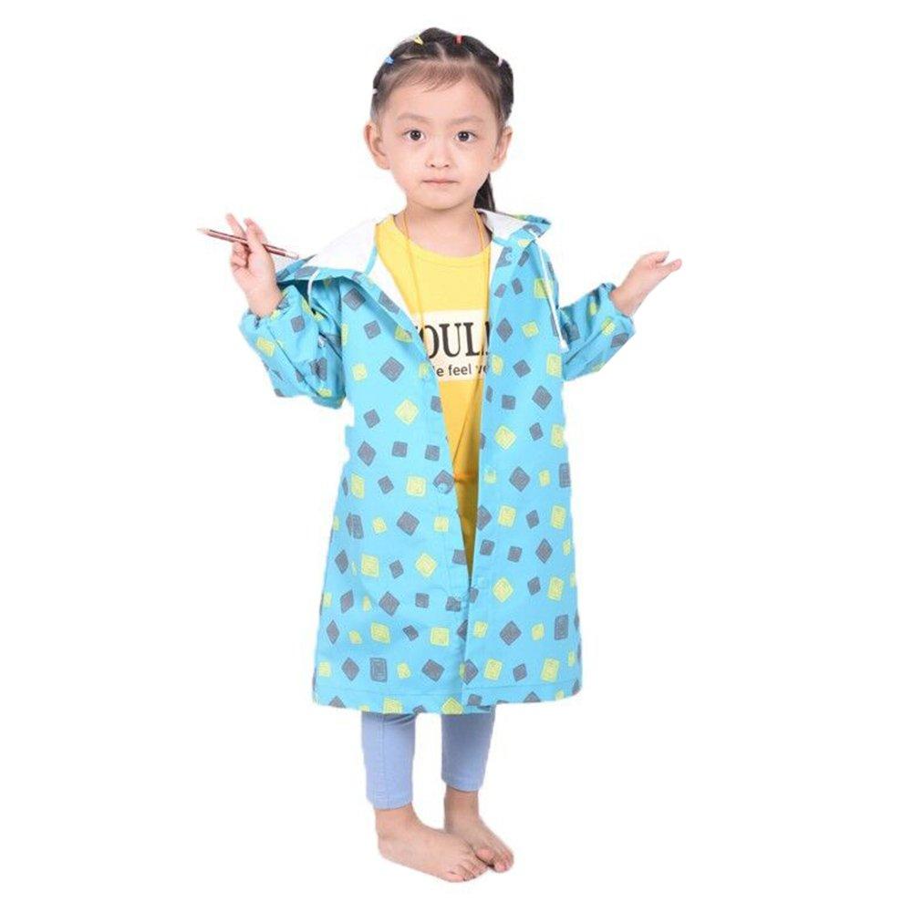 Giacca Pioggia Bimba Unisex Kids di Moda Spesso Carino Escursionismo Poncho Impermeabile Outwear 80-145cm