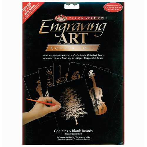 Royal Langnickel 8-Inch by 10-Inch Foil Engraving Art Blank Boards, Copper by ROYAL BRUSH