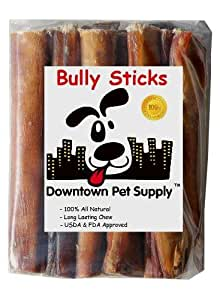 6 inch supreme bully sticks jumbo extra thick 15 pack downtown pet supplytm. Black Bedroom Furniture Sets. Home Design Ideas