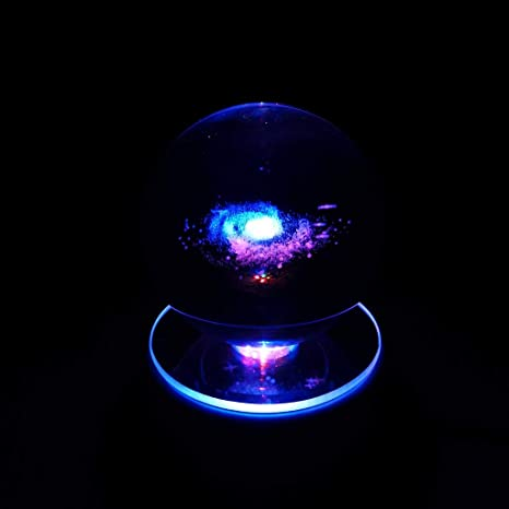 Galaxy Crystal Ball 3D Model w// Stand Kids Educational Astronomy Science Toy