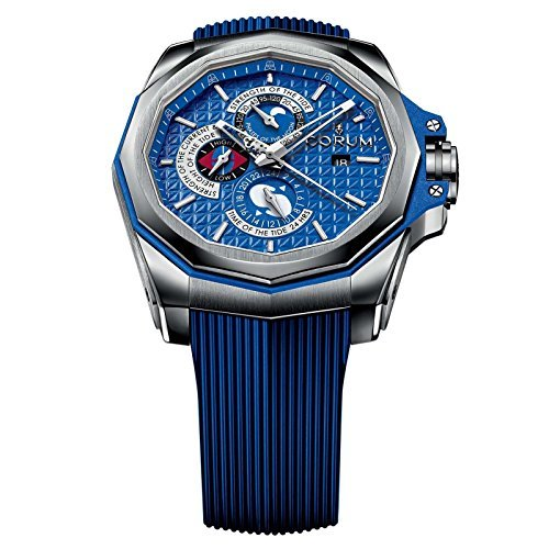 Corum Admiral's Cup Ac-One 45 Tides 277.101.04/F373 AB12 45mm Automatic Titanium Case Blue Rubber Anti-Reflective Sapphire Men's Watch by Corum