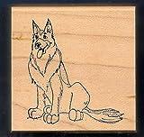 Rubber Stamp Frames German Shepherd BALTO Movie Dog G-970 Art Impressions 1996 Wood Rubber Stamp