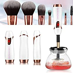 [Amora Bliss] Makeup Brush Cleaner and Dryer, USB Rechargeable Portable Automatic 360 Spinning Rotation Cleaner, Deep Cleans and Dries Brushes in Seconds