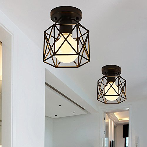 Create for Life Retro Vintage Industrial Mini Painting Metal Rustic Flush Mount Ceiling Light Pendant Light for Hallway by Create for Life (Image #5)