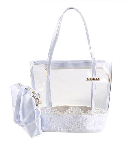 Amazon.com: Zicac – Bolsa de playa de gelatina transparente ...