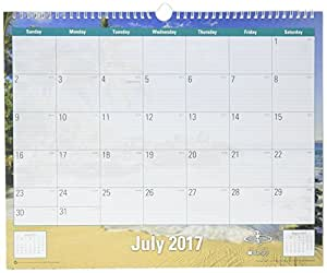 blue sky 2017 2018 academic year wall calendar twin wire bound 15 x 12 endless. Black Bedroom Furniture Sets. Home Design Ideas