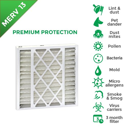 20x20x5 MERV 13 Trion Air Bear Replacement Filters. 2 Pack