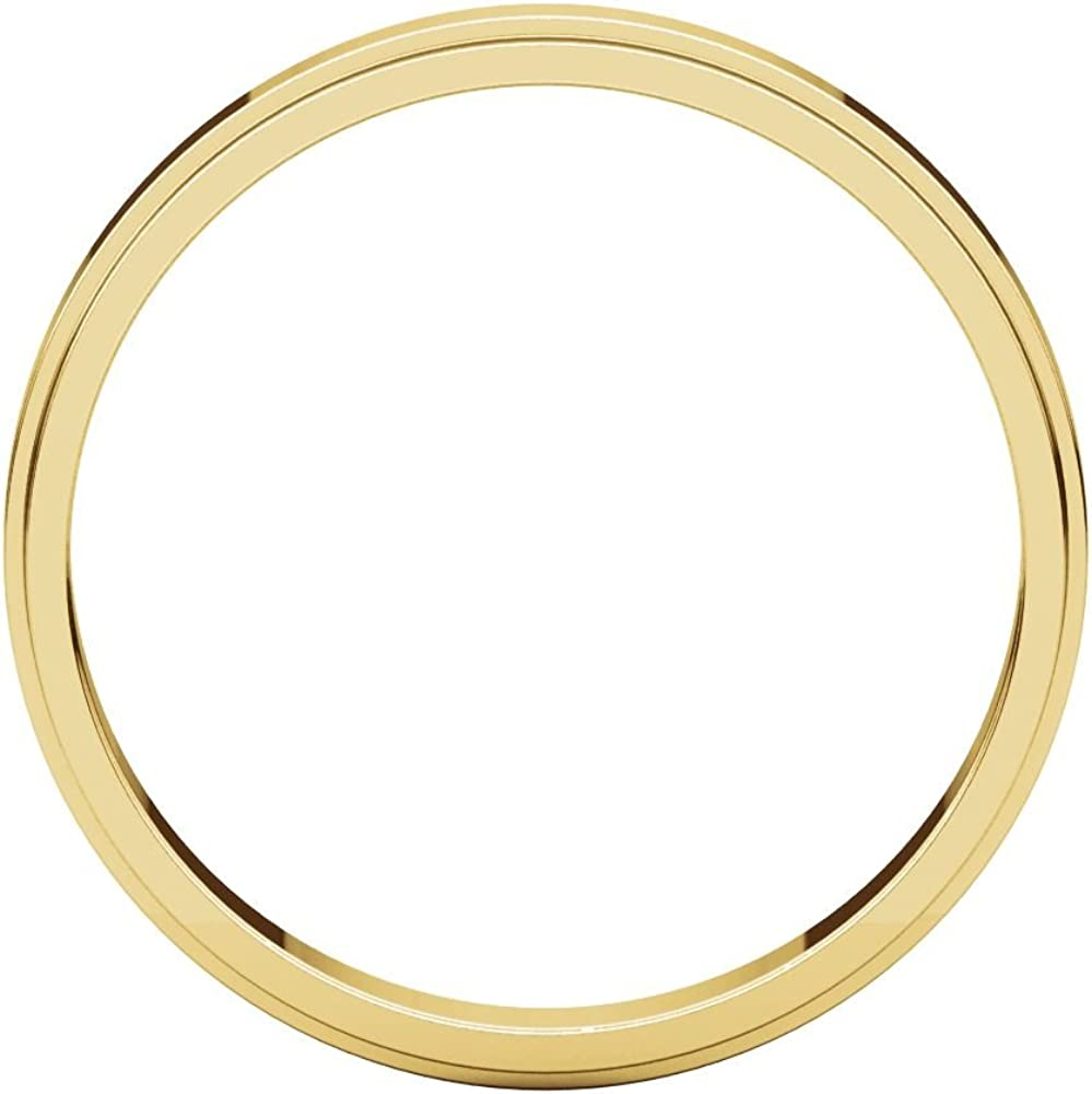 Size 8.5 Bonyak Jewelry 18k Yellow Gold 3 mm Flat Edge Band