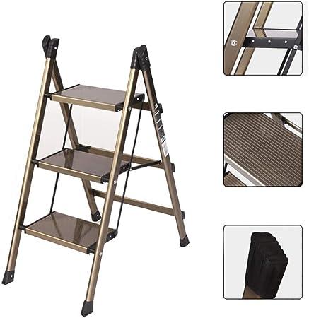 Escaleras Plegables De usos múltiples Paso Escalera Plegable Pasos escaleras, Ligero de aleación de Aluminio Casa Jardín Seguridad en la Construcción de Escalera (Size : 3 Steps): Amazon.es: Hogar