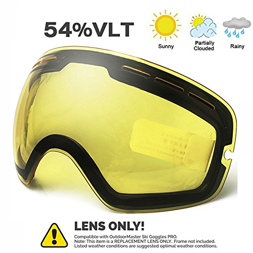 Juli OTG Ski Goggles - Snowmobile Snowboard Skate Goggles with Anti-Fog Spherical Double Professional Multicolor Detachable Lens for Men, Women & Youth - 100% UV Protection ?Bright Enhancement Lens