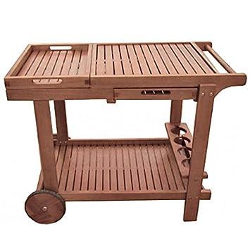 Unbekannt Camarera Hayward Servir Bandeja té Carro Muebles de Jardín Incluye Bandeja Madera de eucalipto: Amazon.es: Juguetes y juegos