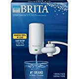 Brita Tap Water Filter System, Water Faucet Filtration System with Filter Change Reminder, Reduces Lead, BPA Free, Fits Standard Faucets Only - Complete, White (Packaging May Vary)