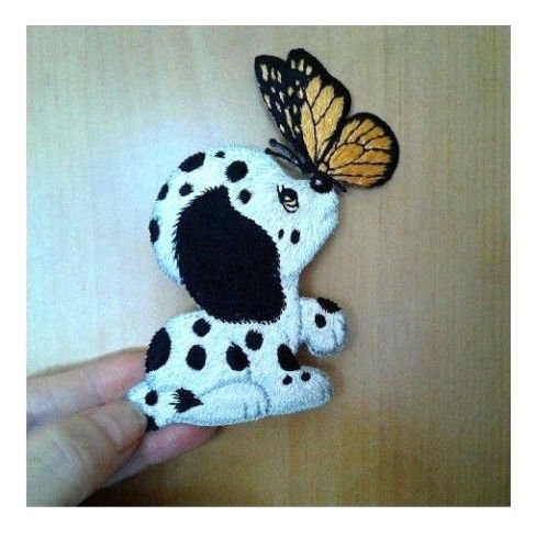 Dog - Puppy - Dalmation - Butterfly - Embroidered Iron On Applique Patch - 4'', H by (Custom Dalmation Costumes)