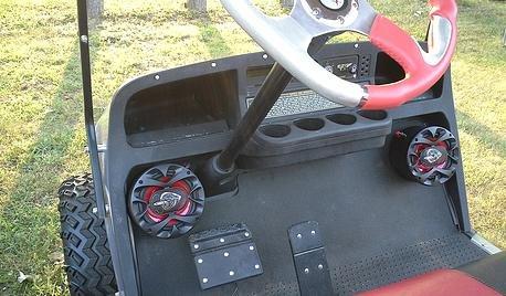 Golf Cart UTV Jeep Truck Ez go Boss Speaker Enclosure Pod
