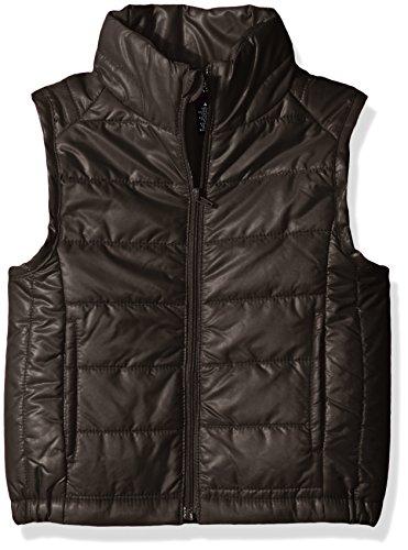 French Toast Little Girls' Puffer Vest, School Black, 4