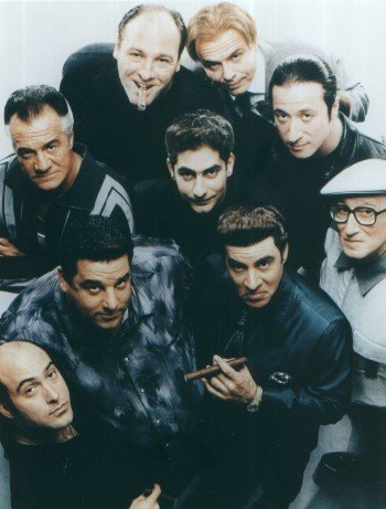 Color Photo Male Cast from Sopranos Photographic Archives