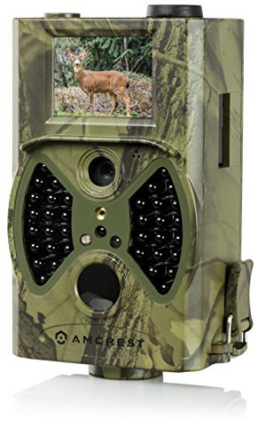 Amcrest ATC-1201 12MP Digital Game Cam Trail Camera with Integrated 2 LCD Viewscreen Long Range Night Vision High-Sensitivity Motion Detection up to 65ft Detachable Laser Remote and More