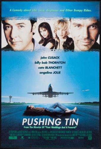 PUSHING TIN - 27X40 D/S Original Movie Poster One Sheet John Cusack Angelina Jolie