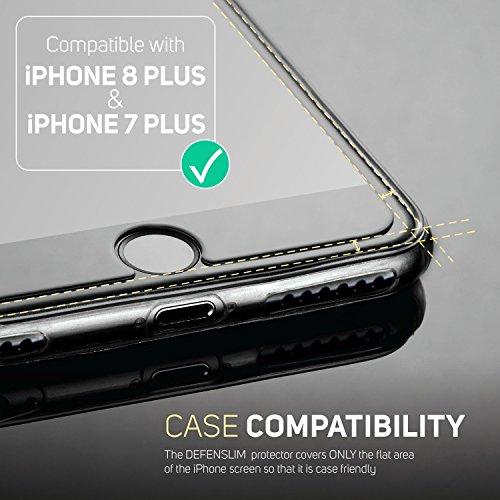 iPhone 8 Plus Glass Screen Protector, iPhone 7 Plus Glass Screen Protector Defenslim by Witkeen Ballistic Tempered Glass Screen Protector iPhone 8 Plus iPhone 7 Plus, (2-Pack) Case Compatible by WITKEEN (Image #3)