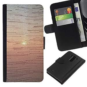 iBinBang / Flip Funda de Cuero Case Cover - Sunrise Art Prism View - LG Optimus G3