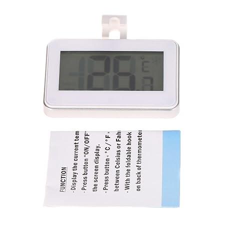 Fogun - Termómetro de cocina para frigorífico o congelador (pantalla LCD digital, resistente al