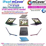 iPearl mCover Hard Shell Case for 11.6 Dell Chromebook 11 3120 series released after Feb. 2015 with 180 degree LCD hinge (NOT compatible with Dell C11 210-ACDU , 3180, 3189 series) (Blue)