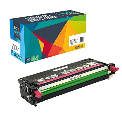 Do it Wiser Compatible High Yield Toner Cartridge Replacement for Dell 3110 3110cn 3115 3115cn Magenta