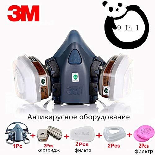 (TOSHUN 3M 7502 6001 501 Military Poison Gas Mask Respirator Respirator gas mask)