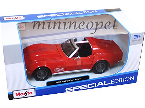 MAISTO 31202 1970 CHEVY CORVETTE COUPE 1/24 DIECAST MODEL CAR RED ,#G14E6GE4R-GE - Coupe Diecast