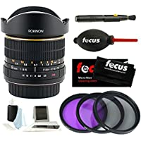 Rokinon 8mm Ultra Wide Angle f/3.5 Fisheye Lens (FE8M-C, Canon EF Mount) + Lens Cleaning Kit