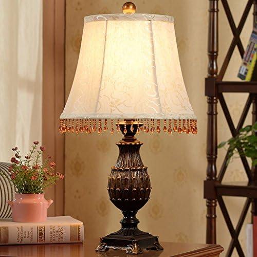 AILI- Table Lamp Desk Lamp Light European Retro Table Lamp Bedroom Bedside Lamp Modern Minimalist Resin Lamp,H55CM*W30CM Table Desk Reading Lamps