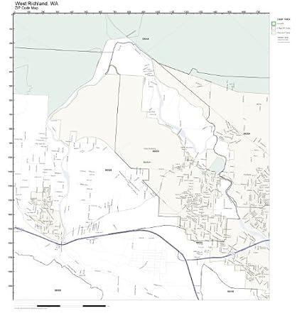 Richland Wa Zip Code Map.Amazon Com Zip Code Wall Map Of West Richland Wa Zip Code Map