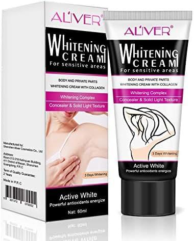 Skin Whiting Cream for Dark Spots,Natural Underarm Whitening Cream, Lightening Face, Neck, Bikini, Thigh and Sensitive Area Skin 60g (white)