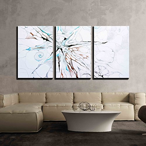 wall26 - 3 Piece Canvas Wall Art - abstract picture of the cosmos - Modern Home Decor Stretched and Framed Ready to Hang - 24