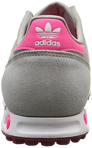 adidas Trainer Damen Sneakers Grau (Mgh Solid Grey/Ftwr White/Berry F15-St)