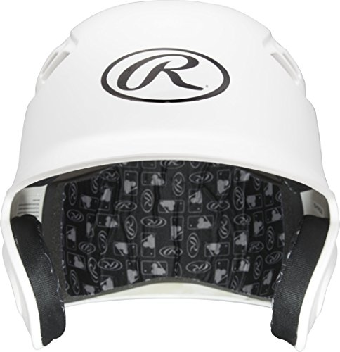 Rawlings Velo Series Alpha Sized Batting Helmet, Matte White, (Collegiate Batting Helmet)