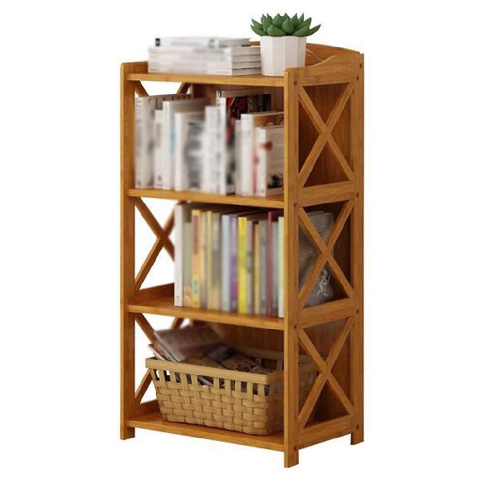 GZH Scaffale   Stand di Fiori Multifunzione 2 3 4 5 Strato Forte capacità Portante A Pavimento Protezione Ambientale Interno bambù (colore    A-70x29x97cm)