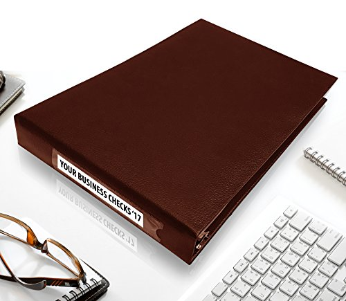 7 Ring Business Check Binder for 3 on a Page Checks   Large Storage Pouch, Calendar, and Ballpoint Pen Included, Burgundy by Essentially Yours (Image #1)