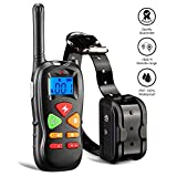 #6: Wiscky Dog Training Collar with Remote Dog Training Shock Collar for Small Medium Large Dogs, [2018 Upgraded Version] 1800ft Waterproof Rechargeable with Beep/Vibration/Electric Shock (6.6lbs-120lbs)