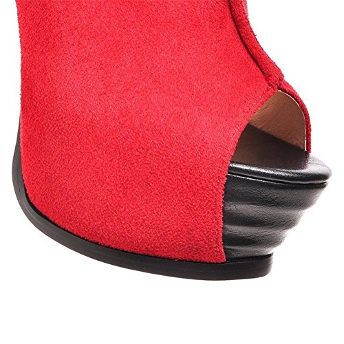 Pie uk Mirar Zapatos Alto Tobillo Del Nvxie Sandalias eur37uk455 38 Strappy Tacón Tamaño Mujer Correa Dedo Señoras Red 5 Estilete Plataforma Furtivamente Eur 5 XHnqZzw7