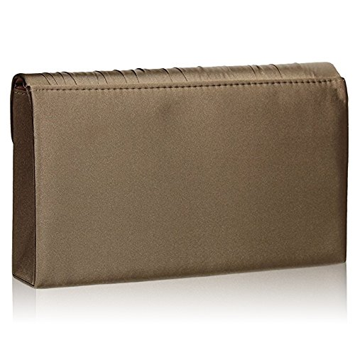 Clutch Pleated Prom Khaki Ladies Women Envelope Satin Evening New UK Bags Party Zarla Bridal wBEaqXO