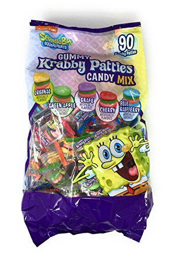 Spongebob Gummy Krabby Patties Candy Mix - 90 Ct.bag (1 Lb.12.55 Oz.)]()