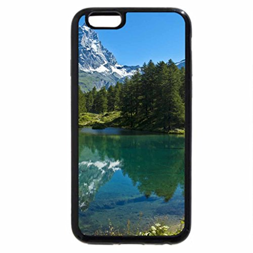 iPhone 6S Case, iPhone 6 Case (Black & White) - Mount Cervino - Italy