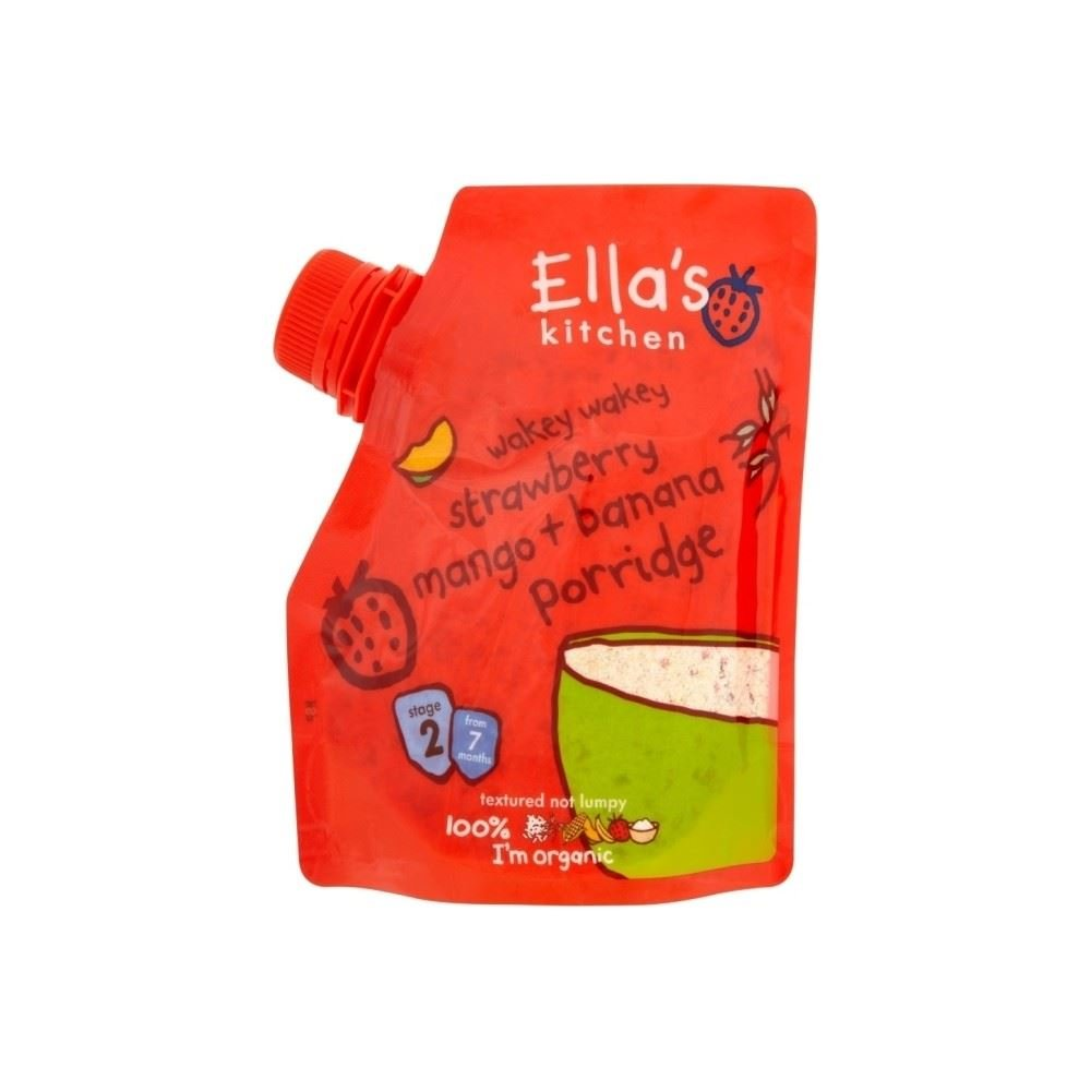 Ella's Kitchen Organic Wakey Wakey Porridge with Strawberry, Mango & Banana 7mth+ (150g)