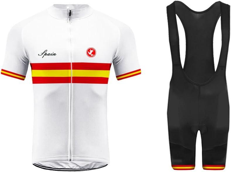 BurningBikewear Uglyfrog Mens Ciclismo Jersey Team Ciclismo Ropa Jersey Bib Shorts Kit Camisa de Secado rápido Ropa al Aire Libre de la Bicicleta Selección Nacional GQZ04: Amazon.es: Deportes y aire libre